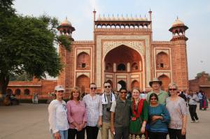 The whole crew at the Taj Mahal
