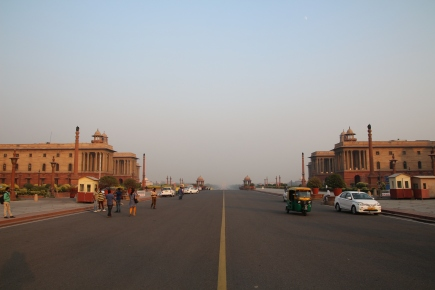 View from parliament to India Gate
