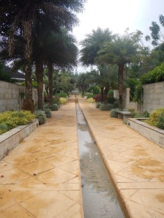Walkway to bungalows
